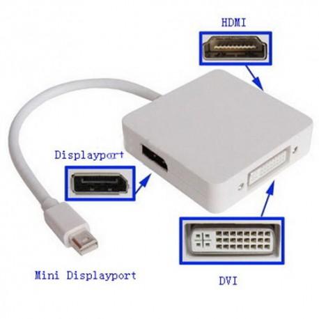 Adapter Mini Display Port na multi kabl (DVI,HDMI,DP)