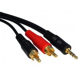 Kabl audio 3.5mm - 2xRCA 3m