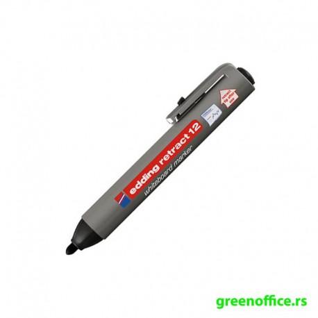 Board marker E-12 Retract crna (Edding)
