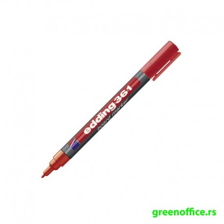Whiteboard marker 361, 1mm crna (Edding)