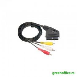 Kabl Scart 3xRCA sa prekidačem