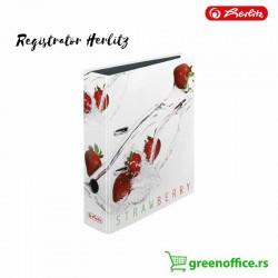 Registrator A4 široki Herlitz samostojeći motiv jagoda