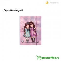 Fascikla Gorjuss Friends Walk Together kartonska sa preklopom i gumicom