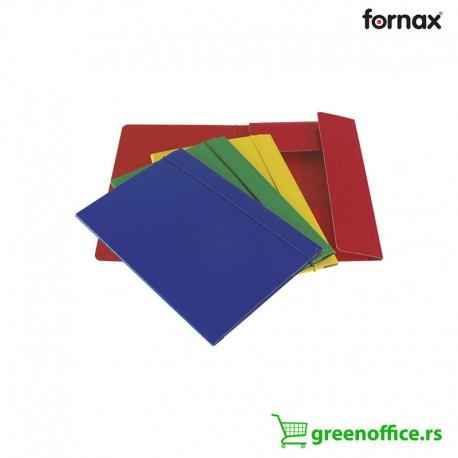 Fascikle A5 u boji Fornax plastificirane sa gumicom i preklopom