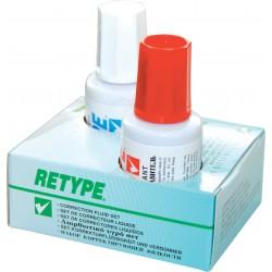 Korektor + razređivač solvent set 1/2, 20 ml, Retype original