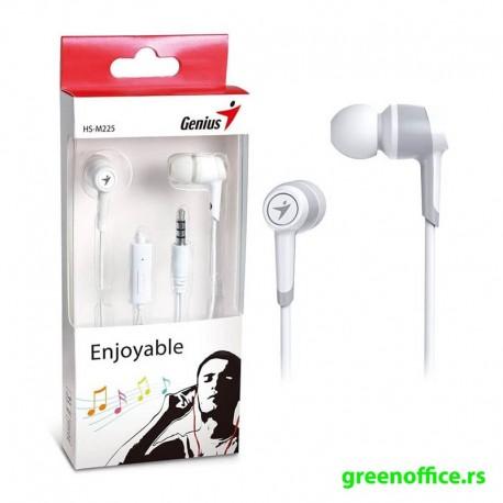 Slušalice GENIUS HS-M225 sa mikrofonom bele