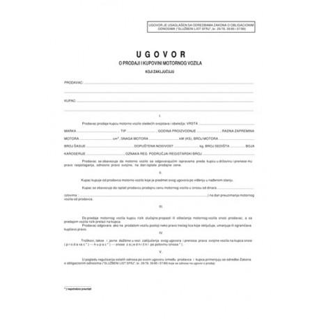 Ugovor o kupoprodaji motornih vozila (A4 OFS)