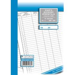 Knjiga evidencije dnevnih izveštaja A4 (obrazac EDI)
