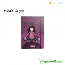 Gorjuss fascikla kartonska sa preklopom i elastičnom gumicom