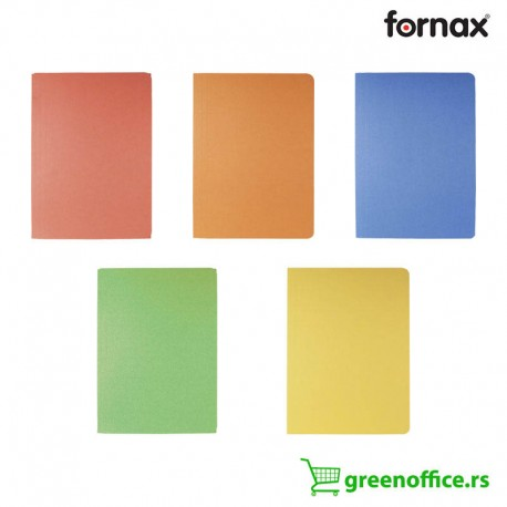 Fascikle sa preklopom Fornax karton prešpan u boji