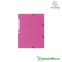 Exacompta fascikle kartonske sa preklopom i gumicom miks boje