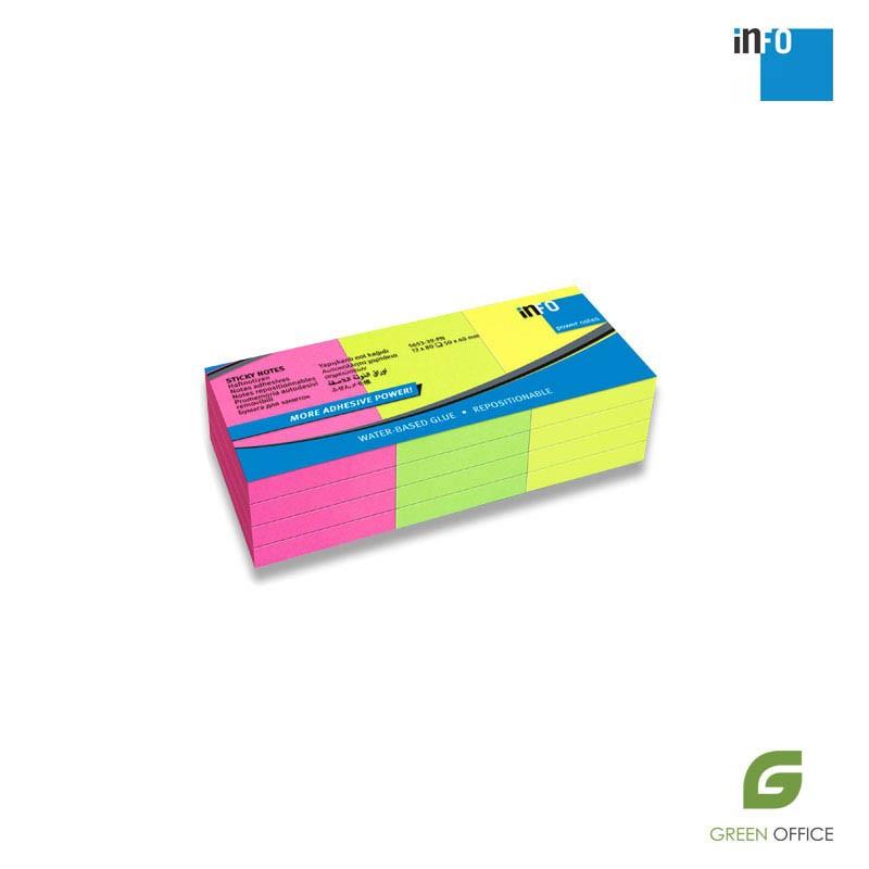 Samolepljivi blokčići u boji 50x40 mm pakovanje 12 kom