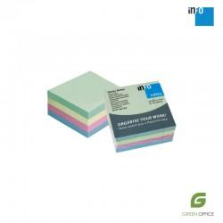 Samolepljivi blokčići Info Notes pastelne miks boje 75x75 mm 400 listova