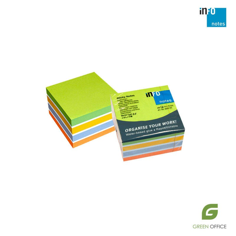 Samolepljivi blokčići color miks 450 listova 75x75 mm