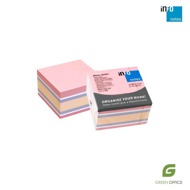 Info notes (samolepljivi blokčići) u miks boji 450 listova